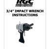 """3/4"""" IMPACT WRENCH INSTRUCTIONS"""