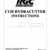 C120 HYDRACUTTER INSTRUCTIONS