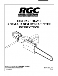 C150 CAST SPEEDHOOK INSTRUCTIONS - Cover Page