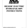 HE1010C ELECTRIC HYDRAPAK 460V INSTRUCTIONS - Cover Page