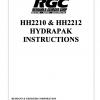 HH2210 & HH2212 HYDRAPAK INSTRUCTIONS