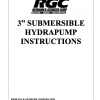 """3"""" SUBMERSIBLE HYDRAPUMP INSTRUCTIONS - Cover"""