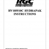 HV185510C HYDRAPAK INSTRUCTIONS - Cover Page