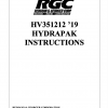 HV351212 '19 HYDRAPAK INSTRUCTIONS - Cover Page