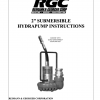"""2"""" SUBMERSIBLE HYDRAPUMP INSTRUCTIONS - Cover"""