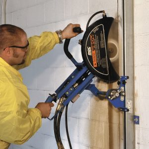 RGC Hydrasaw Wall guide kit in use