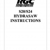 S20/S24 HYDRASAW INSTRUCTIONS - Cover