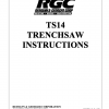 TS14 TRENCHSAW INSTRUCTIONS - Cover